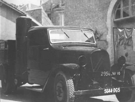 Renault truck woodgas