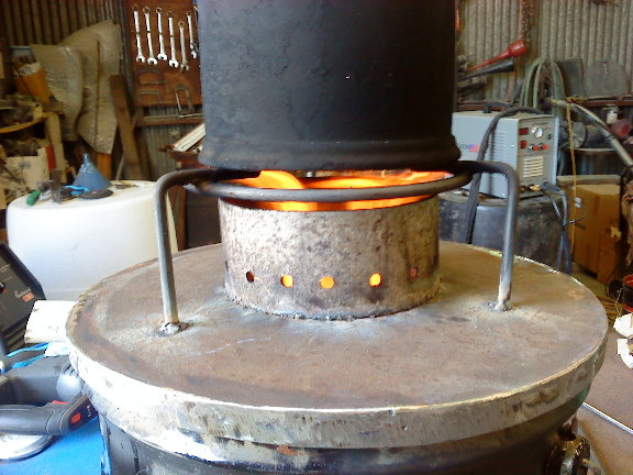 Rocket stoves saw dust us wood power