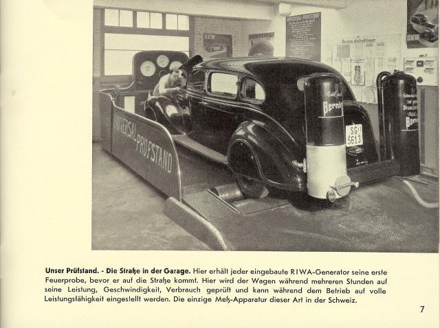 woodgas car on dyno