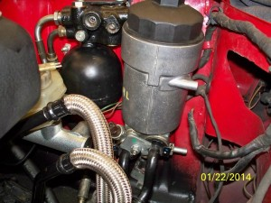 oil filter and pipes